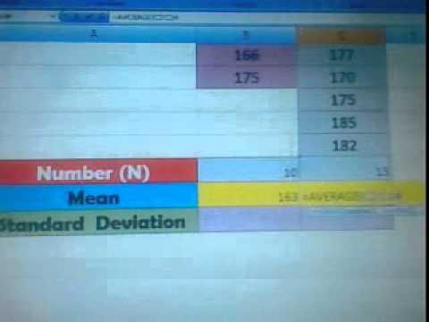 การนับจำนวน การหาค่าเฉลี่ย และการคำนวณค่าเบี่ยงเบนมาตรฐานใน Excel