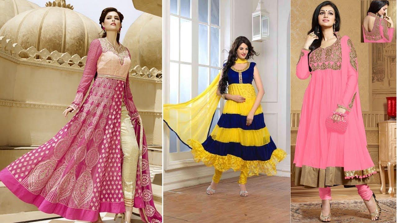 cde1b5a7b4 Latest Designer Anarkali dresses Designs: Indian Anarkali Gown Dress & Long Party  Wear Anarkali Suit