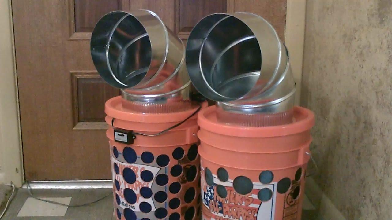 """Homemade """"5 Gallon Bucket"""" Evap. Cooler"""
