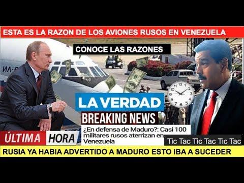 Por esta razon llegaron aviones rusos a Venezuela