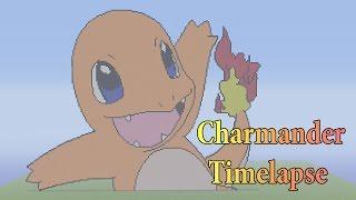 Minecraft Pixel Art: Charmander Timelapse (Pokemon)