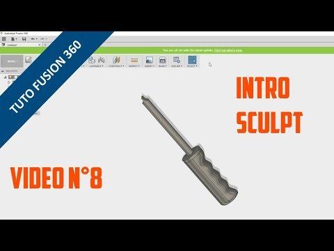 ⚙️ Découvrir Fusion 360 - Tutoriel 8 - Introduction au Sculpt
