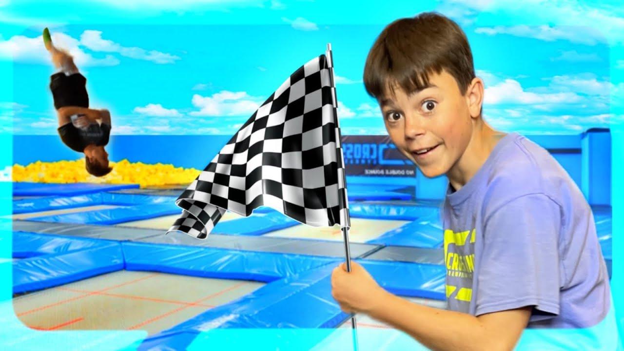 GAME OF FLIP RACE!!! *nieuwe challenge* CROSS JUMPS