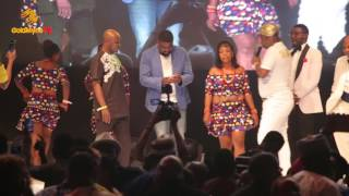 AY MAKUN KUNLE AFOLAYAN MR IBU AKI FRED AMATA PERFORM WITH SIR SHINA PETERS AT AMAA2017