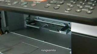 Canon CD printing tray in action