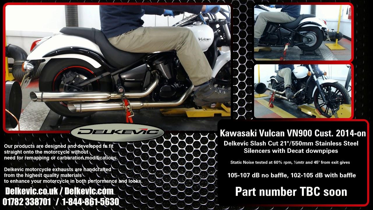 KAWASAKI VN900 08-16 FULL 2-2 EXHAUST SYSTEM 550mm CUSTOM