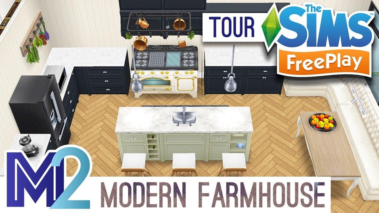 Sims Freeplay Modern Farmhouse Style Original Design Youtube