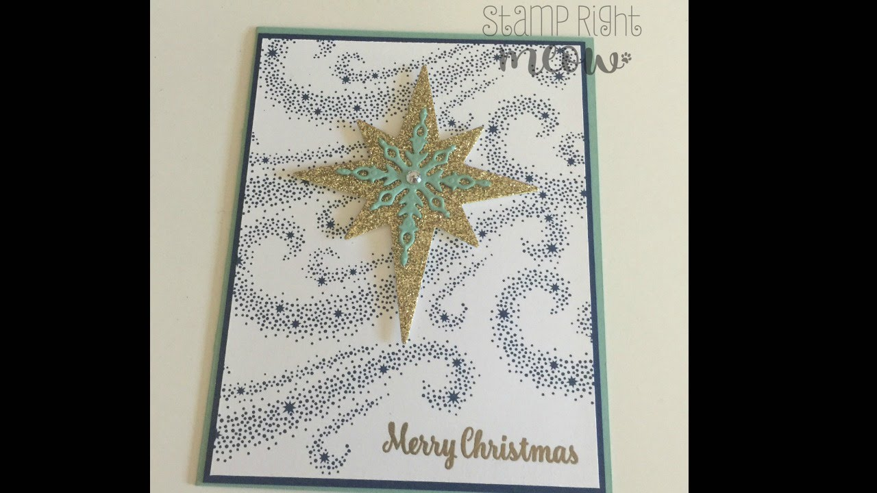 Star of Light Christmas Card With