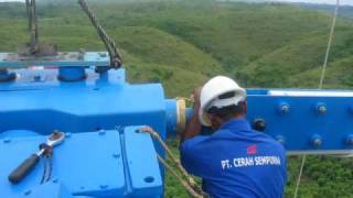 Installation WES80 (WES18) turbine in Indonesia