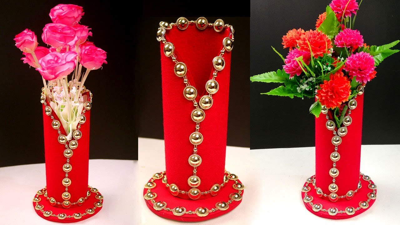 YouTube & How to Make a Flower Vase at Home - Amazing DIY Flower Vase To Decorate Your Home