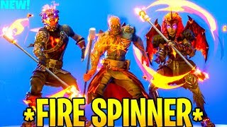 * NOVO * fogo SPINNER emote com todas as peles de fogo..! Vazaram privadas de Battle Royale do Fortnite
