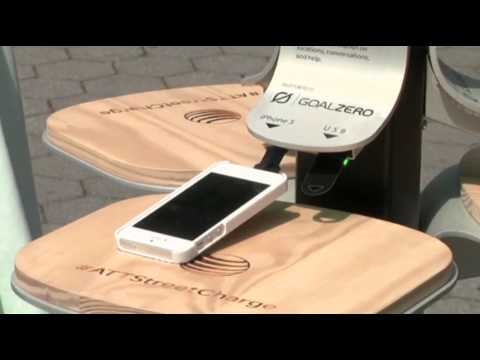 Solar Power Chargers in NYC Parks