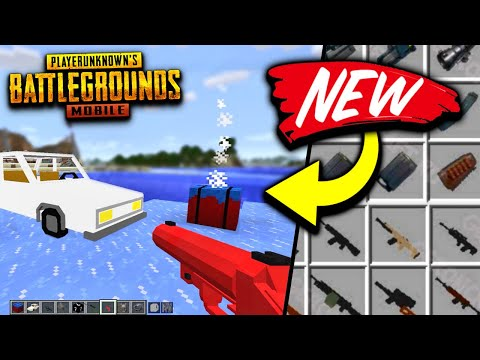 PUBG MOBILE MOD FOR MINECRAFT! WEAPONS, CARS & MORE! [JAVA DOWNLOAD]