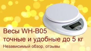 Точные кухонные весы с АлиЭкспресс до 5кг WH-B05 видеообзор