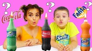 СВЕЧИ ИЗ КОКА КОЛА ФАНТА СПРАЙT How To Make Coca Cola, Fanta and Sprite Candles