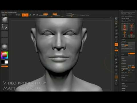 Z-brush Tutorial video - how to sculpt a head 3 of 3 - For beginners