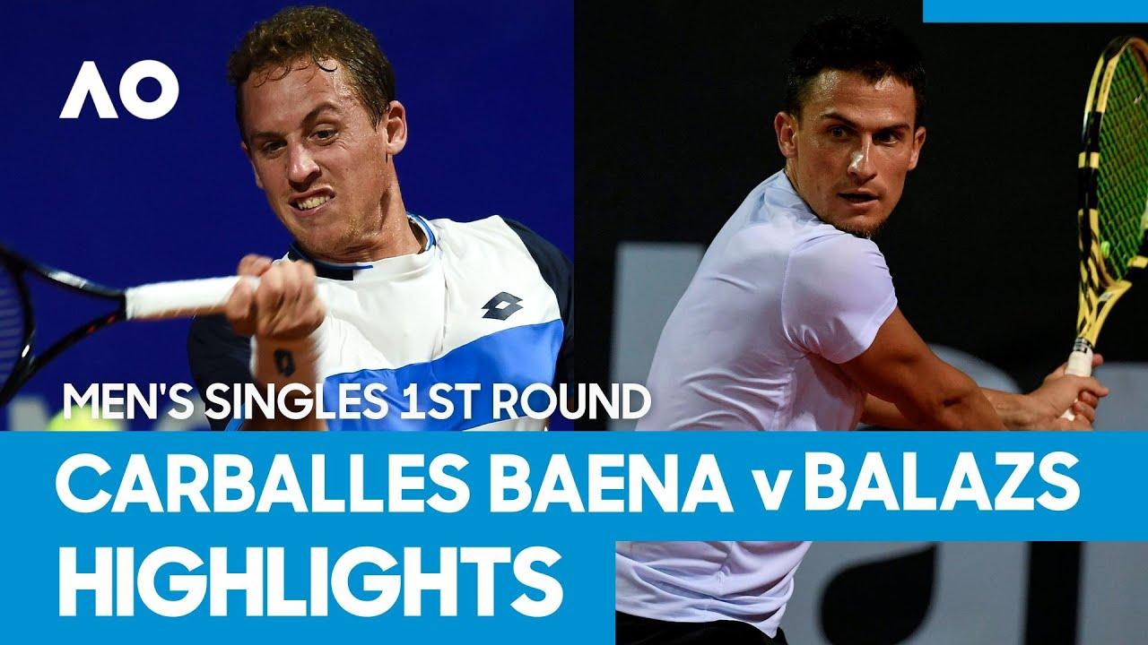 Roberto Carballes Baena vs Attila Balazs Match Highlights (1R) | Australian Open 2021