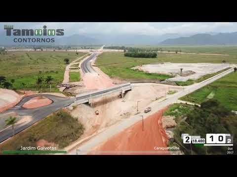 Evolução das obras Nova Tamoios Contornos - outubro/2017