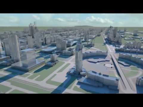 Astana 3D city flights