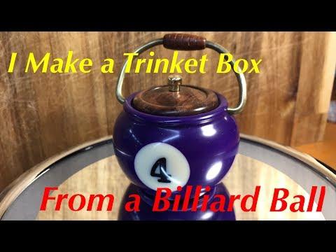 How To Turn A Billiard Ball On The Wood Lathe - Magic Bean Pot