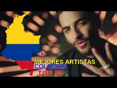 TOP 50 | Mejores artistas Colombia / Best artists Colombia