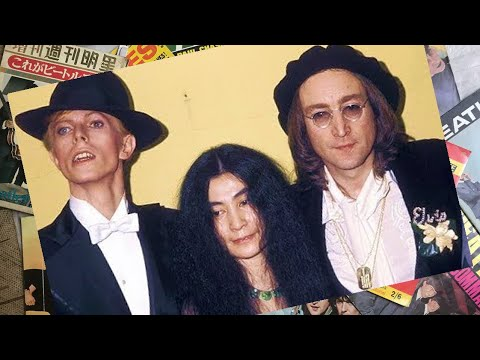 ♫ John Lennon & Yoko Ono backstsge at 17th Annual Grammy Awards /photos