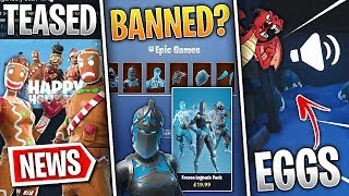 Fortnite News | Frozen Skins Explained, Gingerbread Set Soon, Secret Dragon Eggs, Leaks, Fix & More!