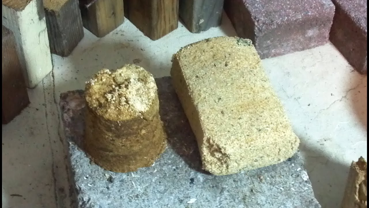 Reginalds rocket stove sawdust brick youtube