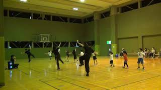 小樽市総合体育館でYOSAKOI体験画像
