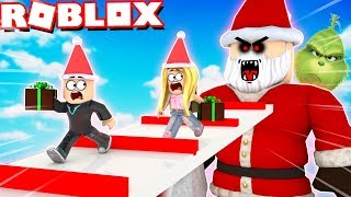 WE SAVE THE HOLIDAYS BEFORE GRINCHEM! ROBLOX OBBY | Vito and Bella