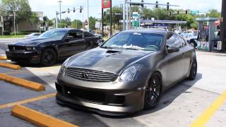 insanely loud duradipped nitrous infiniti g35 exhaust and drifting