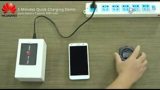 Huawei Quick Charging Experiment - 0-50% in 5 Minutes!
