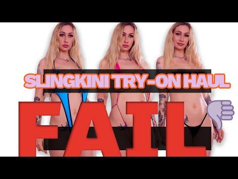 Micro Sling-Bikini/Mono Bikini Try-on Haul FAIL Plus White Gurl Twerk Tips from a White Gurl