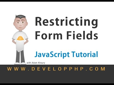 Restrict Text Input Characters HTML JavaScript Tutorial