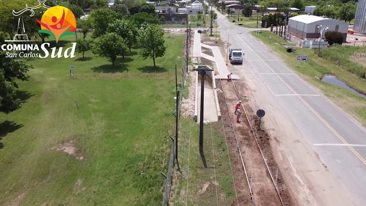 San Carlos Sud: Se concluyó la primera etapa de la ciclovía