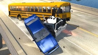 School Bus Crashes 3 | BeamNG.drive