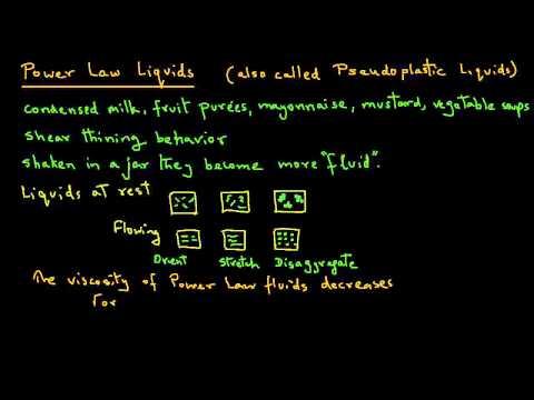 Pseudoplastic Liquids