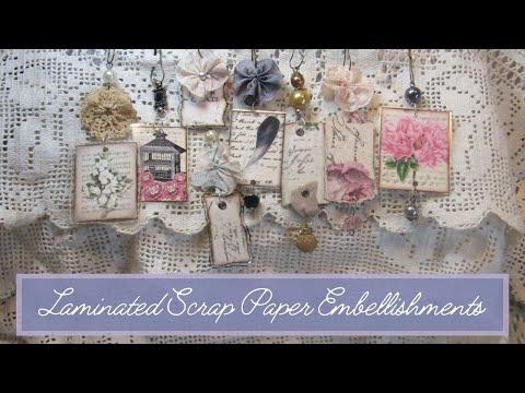 Laminated Scrap Paper Embellishments