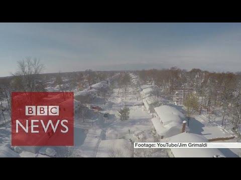 Buffalo drone video reveals snowed under neighbourhood