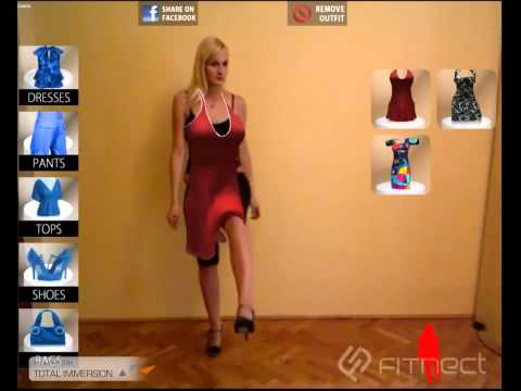 Augmented Reality Virtual Fitting Room, TryLive Apparel