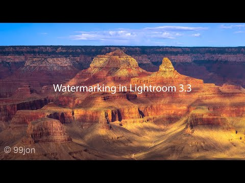 Add a Watermark Lightroom 3.3 and Later
