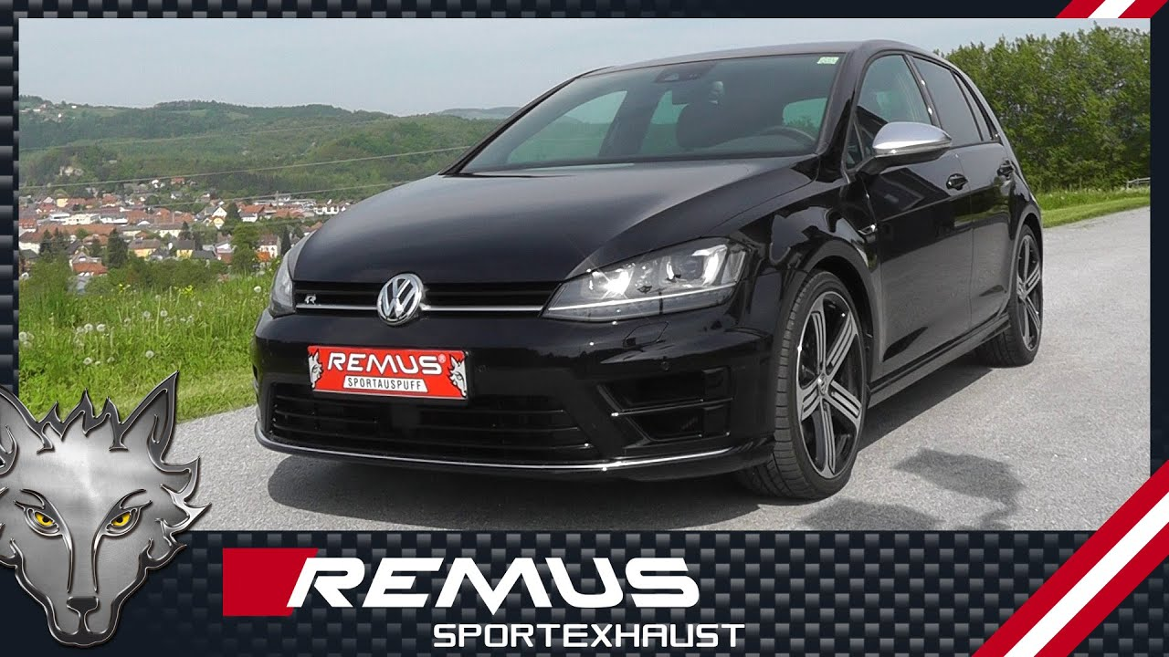 vw golf vii r 4motion type au mod 2014 with remus cat back sport exhaust system youtube. Black Bedroom Furniture Sets. Home Design Ideas