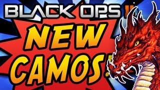Black Ops 2 NEW CAMOS! - DRAGON, COMIC BOOK, CYBORG & PALADIN Camo DLC! (BO2 Gameplay)