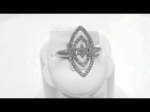 Designer Marquise Star White Gold Diamond Ring [RA231]
