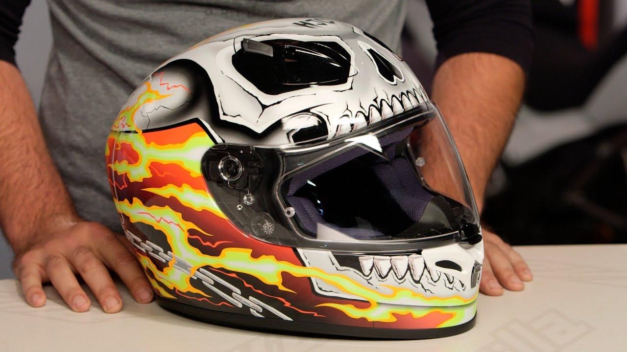 Hjc Fg 17 >> HJC FG-17 Ghost Rider Helmet Review at RevZilla.com - YouTube