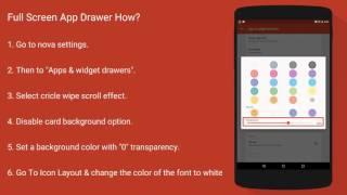 Full Screen App Drawer Setup - Nova Launcher