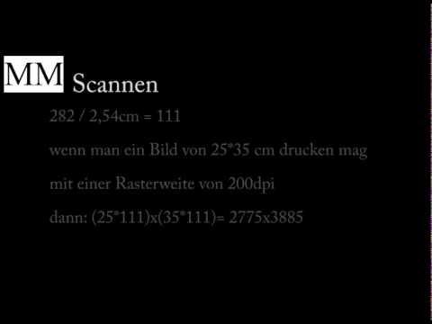 rechnung scannen vergr ern und pixel ausrechnen youtube. Black Bedroom Furniture Sets. Home Design Ideas