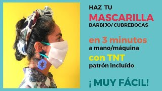 Tutorial para hacer una mascara higiénica de TNT