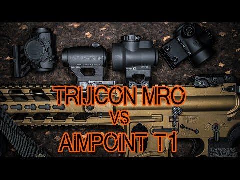 Trijicon MRO vs Aimpoint T1 / T2 - Trijicon MRO Review