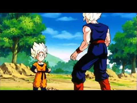 Dragon Ball Z- Goten goes Super Saiyan for the First Time! [HD]